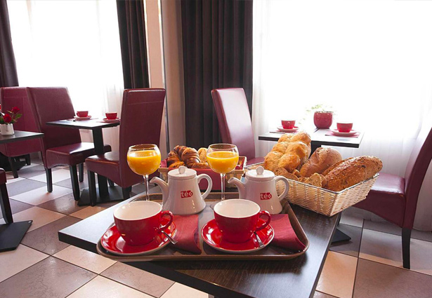 Photo du petit déjeuner à l'hotel Belle Inn, Clermont Ferrand