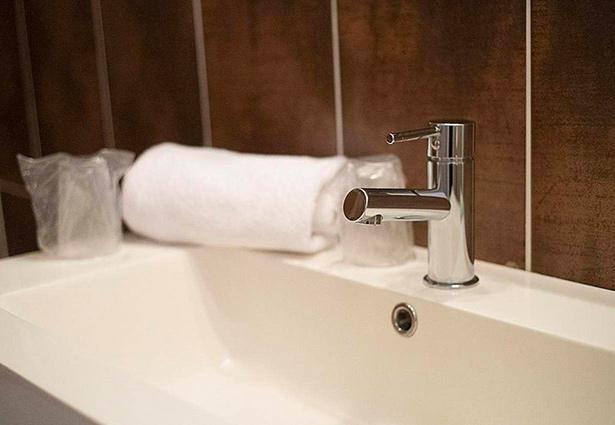 Photo d'une salle de bain de l'hotel Belle Inn